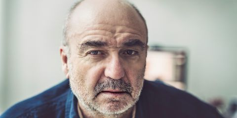 Mature man looking concerned