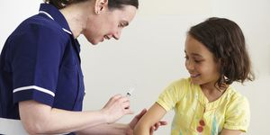 A child having a vaccination