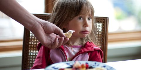 Young girl fussy eater
