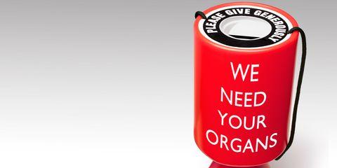 Organ donation collection box