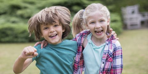 Happy children boy and girl