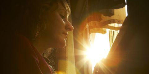 Nose, Lip, Skin, Chin, Happy, Sunlight, Amber, Jaw, Sun, Light,