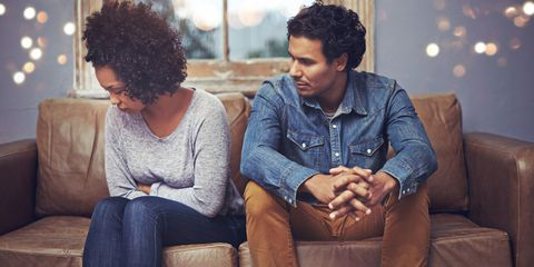 Hairstyle, Sitting, Comfort, Human body, Denim, Jeans, Black hair, Sharing, Jheri curl, Couch,