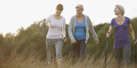 Product, Standing, People in nature, Outdoor recreation, Waist, Adventure, Hiking, Walking, Nordic walking, Active tank,