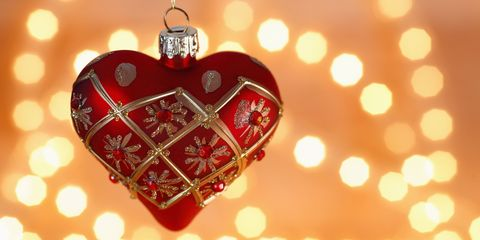 Christmas ornament, Red, Heart, Ornament, Christmas decoration, Love, Christmas, Holiday, Heart, Fashion accessory,