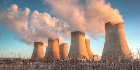 Nature, Cooling tower, Nuclear power plant, Sky, Atmosphere, Cloud, Natural landscape, Technology, Power station, Atmospheric phenomenon,