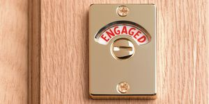 Engaged toilet sign