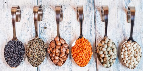 Legumes on a spoon
