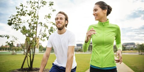 Couple jogging in the park