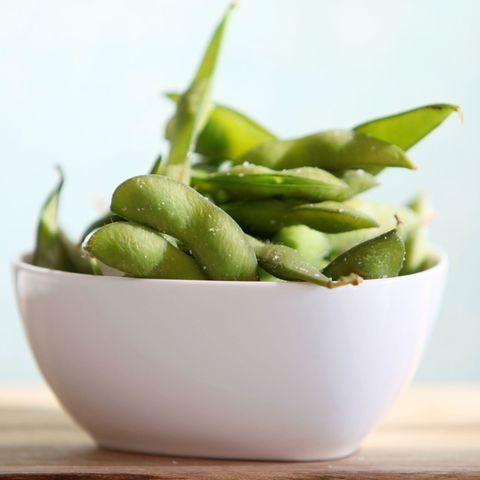 Bowl of edamame soybeans