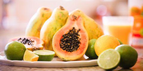 Papaya and limes