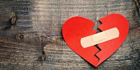paper heart taped together