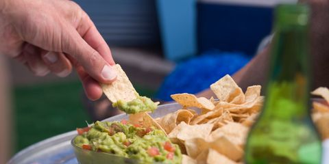Chips and guacamole dip