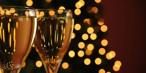 Wine and Christmas tree