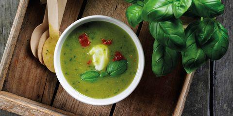pea and basil soup