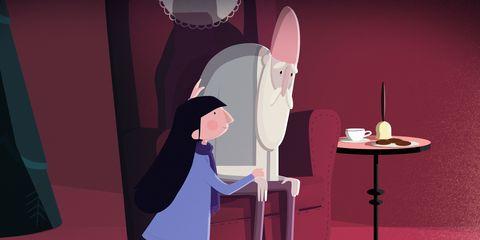 Alzheimer's Research UK Santa Forgot Christmas Advert Freya hugging Santa