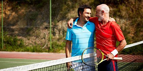 Tennis father son