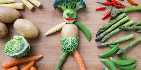 Healthy eating - Man made of vegetables