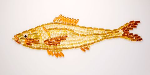Fish oil tablets