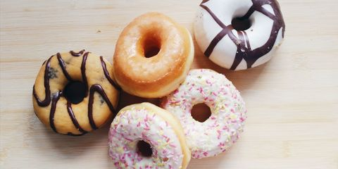 Donuts on table