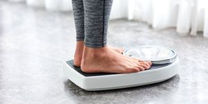 Woman on the scale
