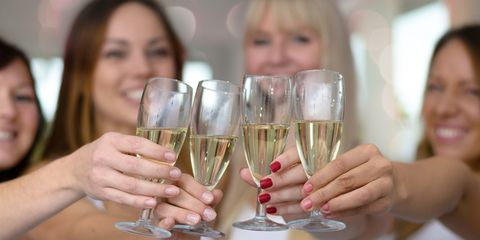 women with drinks champagne