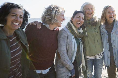 Menopause women friends laughing