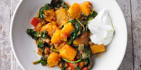 Sweet potato and spinach dhal