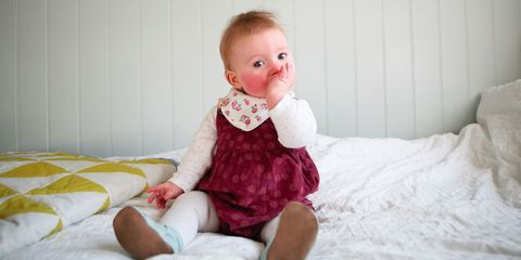 Slapped cheek syndrome; toddler with very red cheeks