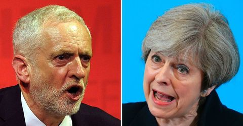 Labour's Jeremy Corbyn and Prime Minister Theresa May