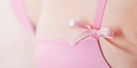 Pink Ribbon and Bra for Breast Cancer Awareness, Medical Examination
