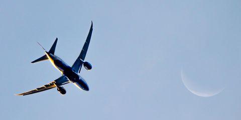 Plane flying in sky
