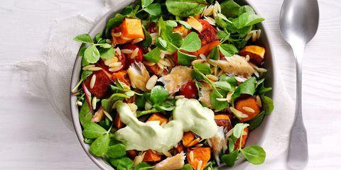 Orzo pasta energy bowl