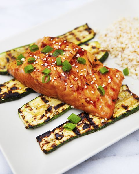 Grilled Salmon Vertical