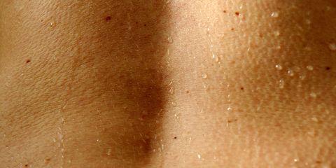 Really sweaty woman