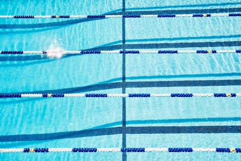 Line, Azure, Swimming pool, Parallel, Recreation, Leisure centre, Medley swimming, Swimming,