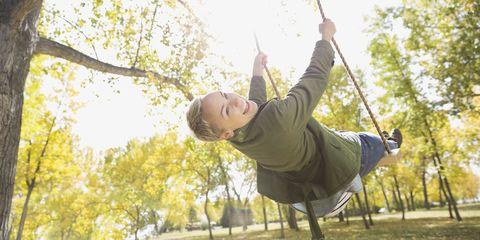 Adult woman on swing
