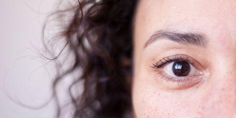 healthy woman's eye