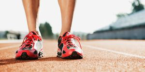 Running trainers on track