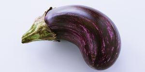 Bent aubergine