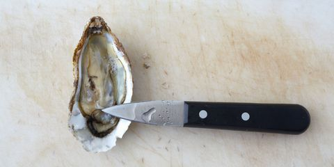 Oyster and oyster knife
