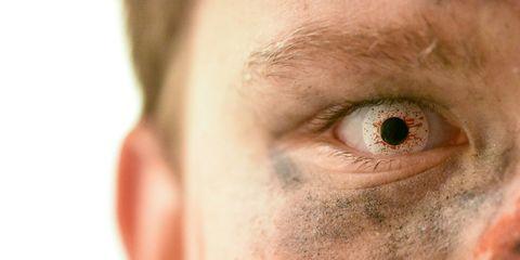 Spooky halloween eye