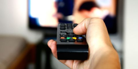TV remote close up
