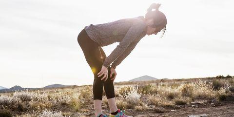 Women taking break from run