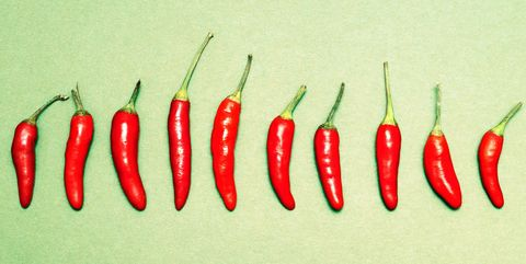 Produce, Vegetable, Ingredient, Food, Spice, Bell peppers and chili peppers, Red, Bird's eye chili, Chili pepper, Natural foods,
