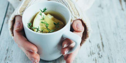 Lemon tea hands