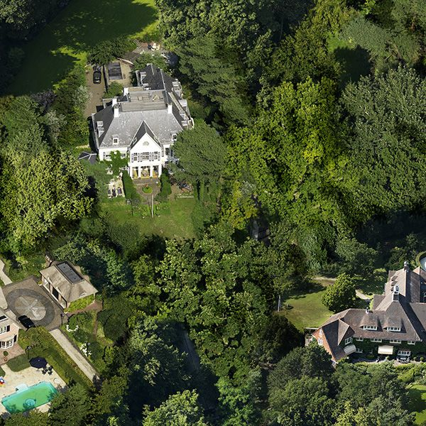 Tree, House, Landscape, Roof, Aerial photography, Residential area, Home, Land lot, Bird's-eye view, Village,