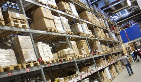 Commercial building, Composite material, Engineering, Warehouse, Inventory, Beam, Building material, Construction, Shelf, Shelving,