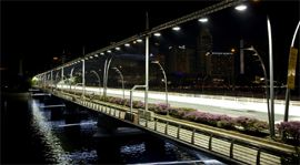 Night, Urban area, Infrastructure, Architecture, Metropolitan area, Photograph, White, Waterway, Line, Fixed link,