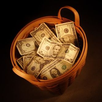 Money, Cash, Banknote, Currency, Paper, Paper product, Still life photography, Present, Dollar, Saving,